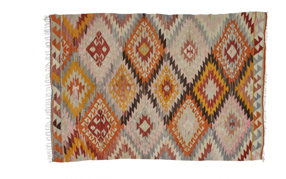Tyrkisk kelim tæppe. Tæpper sælges i København