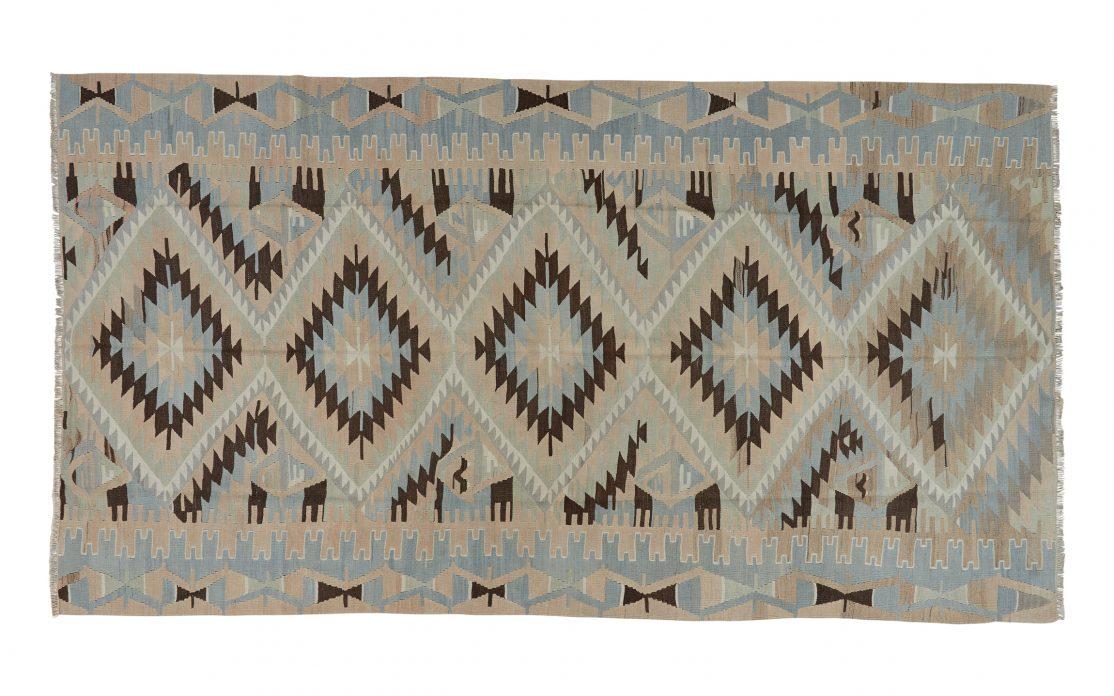 Stor kelim tæppe fra Tyrkiet. Tæpper sælges i København